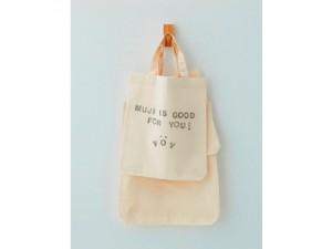 「自分の印がつけられる布製マイバッグ」