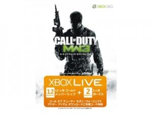 「Xbox LIVE 12か月+12か月ゴールドメンバーシップ コール オブ デューティ モダン・ウォーフェア3 エディション」
