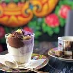 シャポン自由が丘店に、鮮やかな紫色の季節限定パフェ登場!