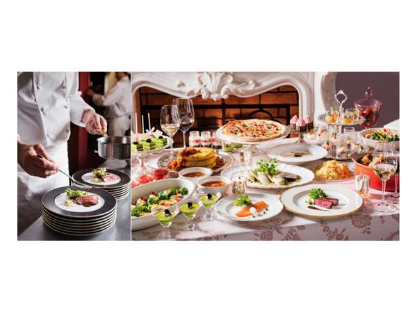 春野菜をはじめ旬の食材を使ったオードブルや温野菜が揃う。