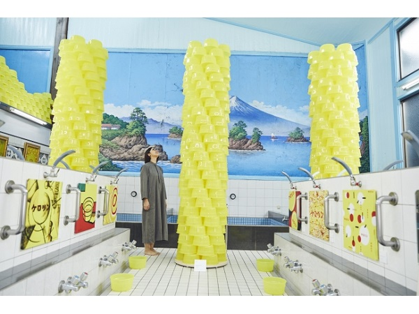 """「ケロリン桶」をモチーフにしたアート作品展が""""銭湯""""で開催"""
