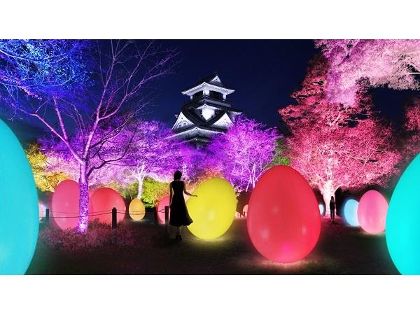日本三大夜城「高知城」が光のアート空間に大変身!