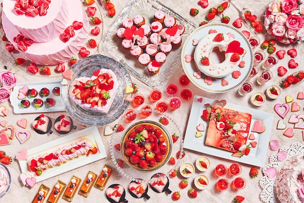 イチゴとハートがいっぱい!ロマンティックなデザートブッフェ - STRAIGHT PRESS[ストレートプレス]