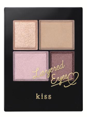 質感ミックスで上品にツヤめく目もとに!「kiss」新作アイカラーパレット