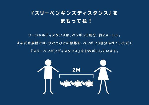 ペンギンの大きさを目安に三密回避!「すみだ水族館」の楽しい感染防止対策
