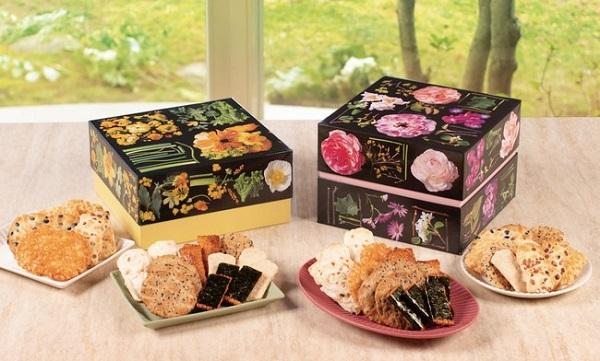 生花をデザインしたパッケージの米菓詰合せ「花のル・コリ」に春限定版!