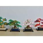 """デスクに""""bonsai""""を置いてほっこりしたいなら道具なしで作れるペーパークラフト「kami-bonsai」がおススメ!"""