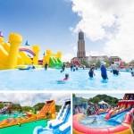 大阪城公園に大規模ウォーターパークが誕生!今夏はスリル満点のスライダーやスノーパークでクールダウン♪