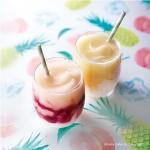 ひんやり、とろ~り!国産パイナップルと白桃のフローズン